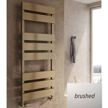 Reina Fermo Flat Panel Heated Towel Rail 1190mm H x 480mm W Brushed