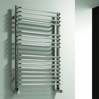 Reina Isaro Designer Heated Towel Rail 800mm H x 300mm W Chrome