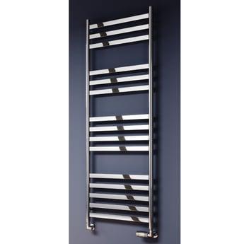 Reina Misa Designer Heated Towel Rail 1450mm H x 530mm W Polished Stainless Steel