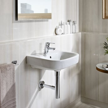 Roca Debba Wall Hung Basin 400mm Wide 1 Tap Hole