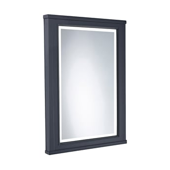 Tavistock Lansdown Illuminated LED Bathroom Mirror 600mm Wide - Matt Dark Grey