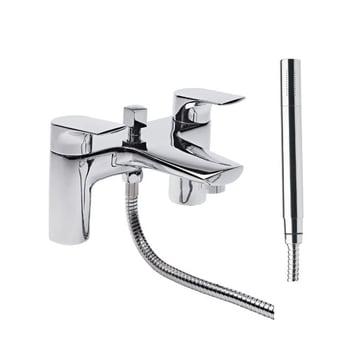 Tavistock Strike Bath Shower Mixer Tap Deck Mounted - Chrome