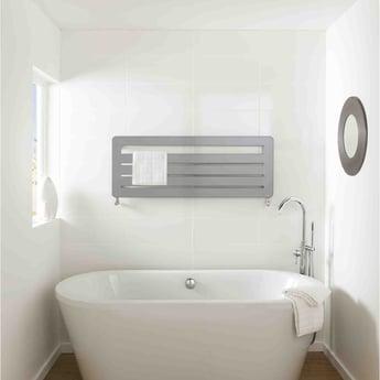 TRC BDO Athena Heated Towel Rail 540mm H x 1200mm W - White