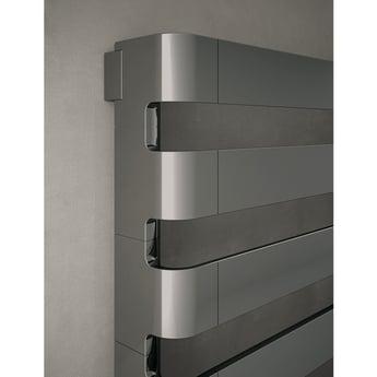 TRC BDO Step Heated Towel Rail 430mm H x 1800mm W - Black Chrome