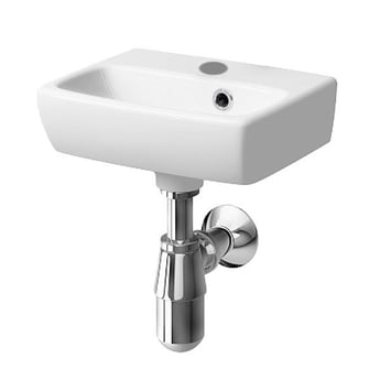Twyford E100 Square Handrinse Basin 360mm Wide 1 Tap Hole