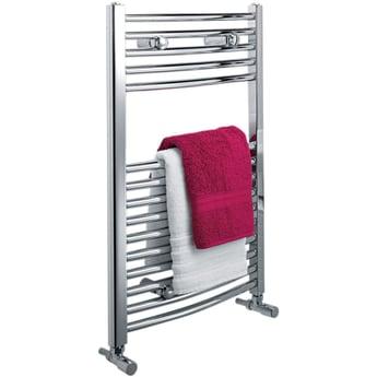 Ultraheat Chelmsford Curved Heated Towel Rail 900mm H x 420mm W - Chrome