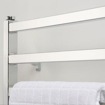 Ultraheat Karnak Straight Heated Towel Rail 480mm H x 420mm W - White