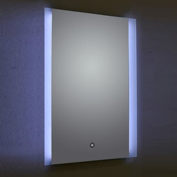 Verona Ashbourne LED Bathroom Mirror with Touch Sensor & Demister 700mm H x 500mm W