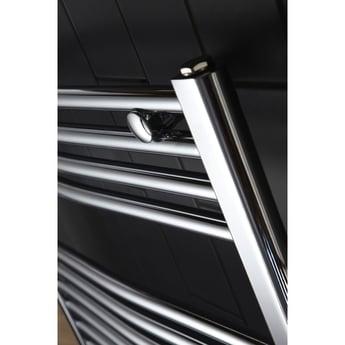 Verona Curved Designer Heated Towel Rail 700mm H x 600mm W Chrome