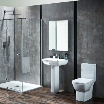 Verona Piccolo Basin with Full Pedestal 570mm Wide - 1 Tap Hole