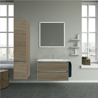 Verona Sleek LED Bathroom Mirror 800mm H x 600mm W with Touch Sensor and Demister