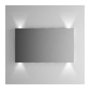 Vitra Brite Illuminated Bathroom Mirror 700mm H x 1200mm W
