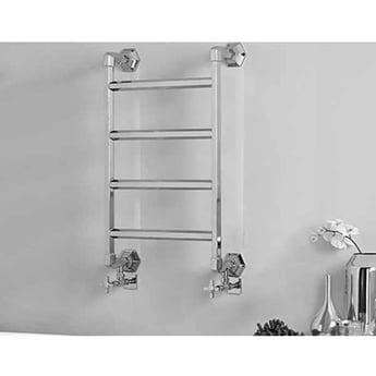 Vogue Art Moderne 4 Heated Towel Rail 835mm H x 700mm W Electric