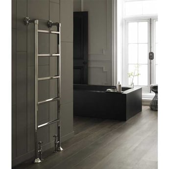 Vogue Art Moderne 7 Heated Towel Rail 943mm H x 600mm W Central Heating
