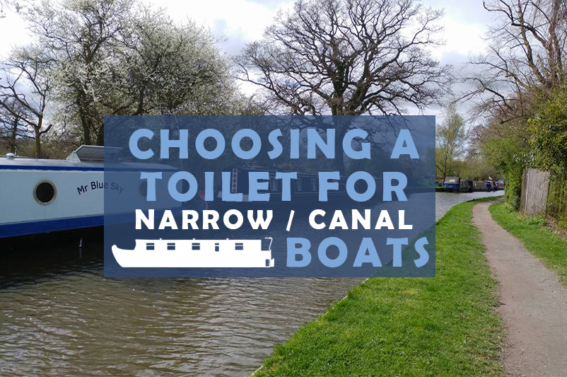 Image showing a narrowboat in the background as part of the choosing toilets for a canal boat blog post by heatandplumb.com
