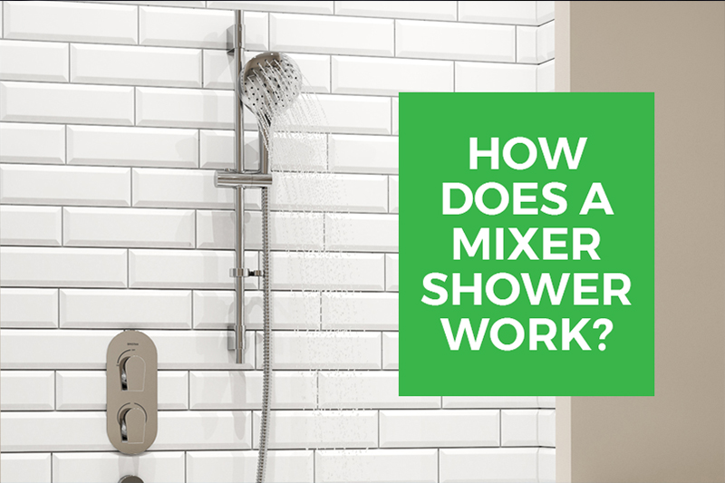 An image showing a Bristan  Mixer Shower that is part of the technical guide How Do Mixer Showers Work by heatandplumb.com