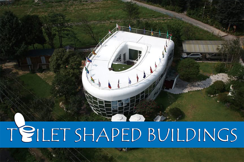 a picture showing a toilet shaped building as part of the article from heatandplumb.com