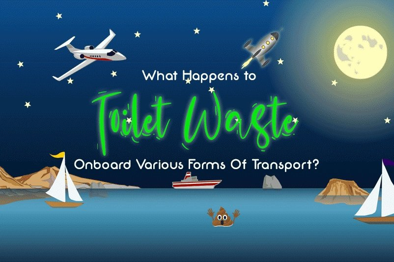 An image showing various forms of transport such as a rocket, plane and ships to go with the article by heatandplumb.com for what happens to toilet waste onboard various forms of transport