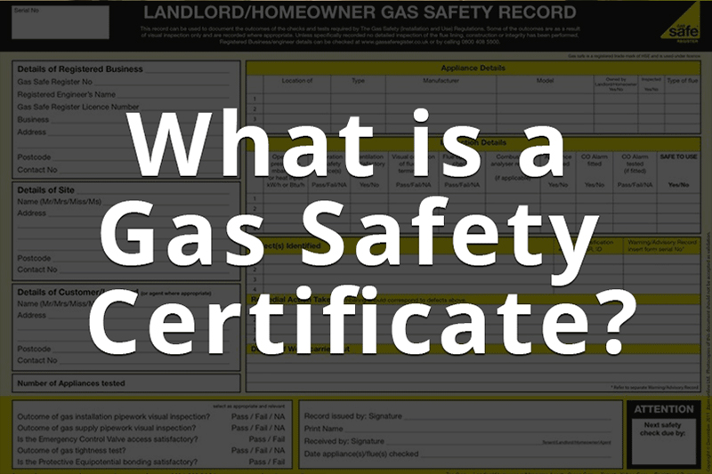 a featured image for the blog psot by heatandplumb.com entitled what is a gas safety certificate