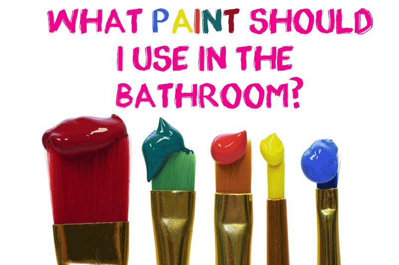 An image showing paint options for the article What Paint Should i Use in the Bathroom by heatandplumb.com