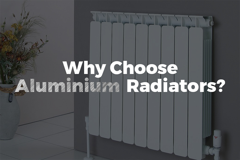 This images shows an aluminium radiator as part of the blog post Why Choose Aluminium Radiators by heatandplumb.com