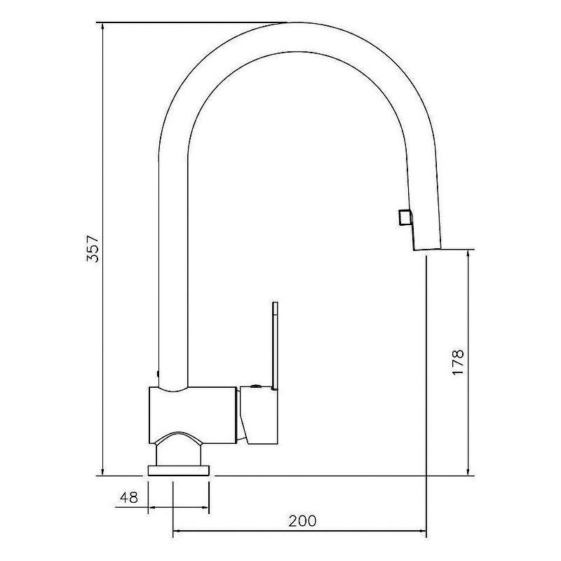 Abode Czar Side Lever Kitchen Sink Mixer Tap - Chrome