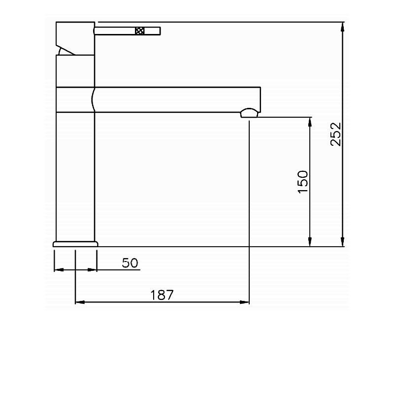 Abode Hydrus Single Lever Kitchen Sink Mixer Tap - Chrome