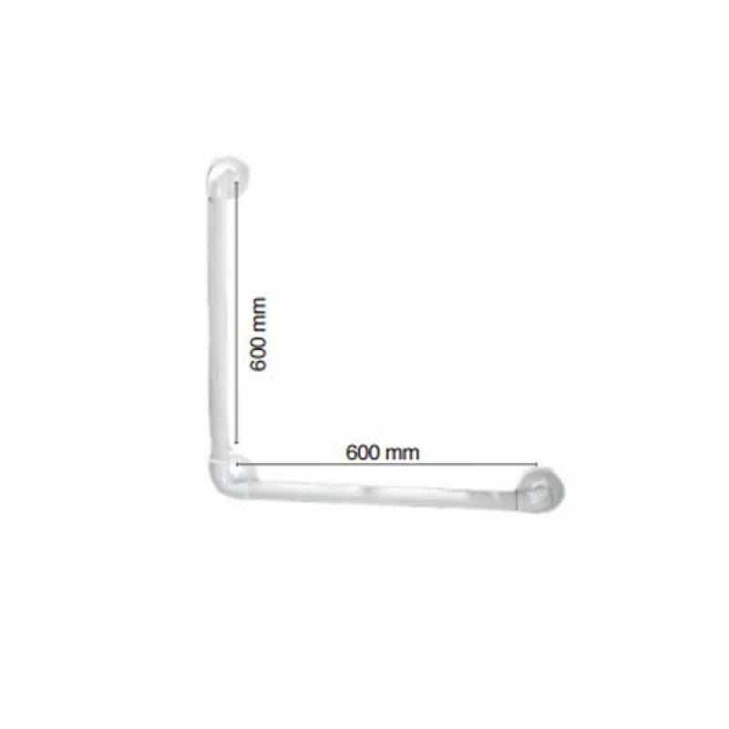 AKW 1400 Series 90 Degree Angled Grab Rail, 600mm Length, Blue