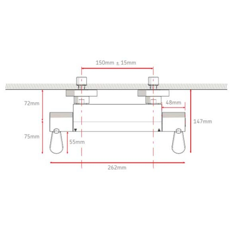 AKW Arka Thermostatic Bar Mixer Shower with Shower Kit