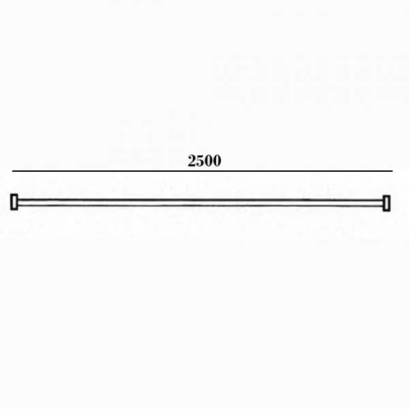 AKW White Bendy Shower Curtain Rail 2500mm