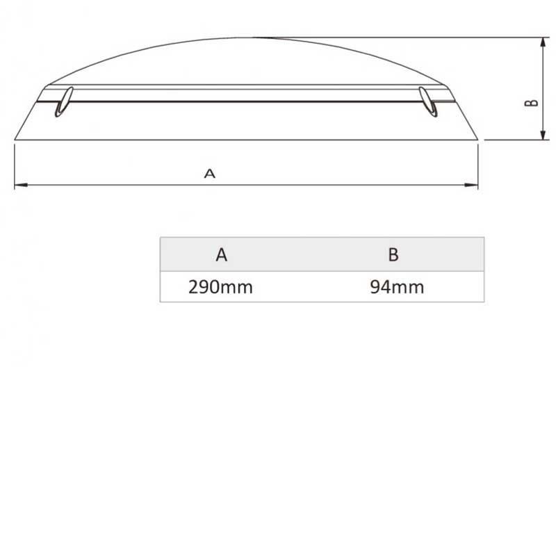 AKW 2D Bathroom Light Surface Mounted