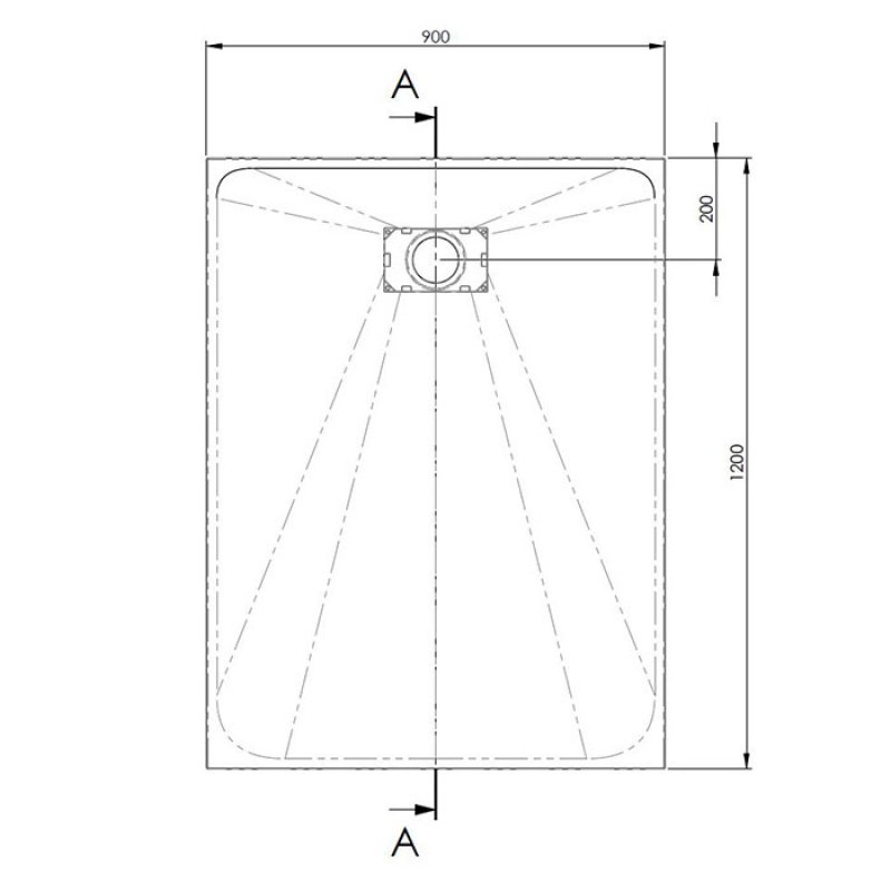 AKW Onyx Rectangular Shower Tray 1200mm x 900mm - White