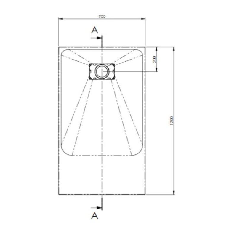 AKW Onyx Rectangular Shower Tray 1200mm x 700mm - White