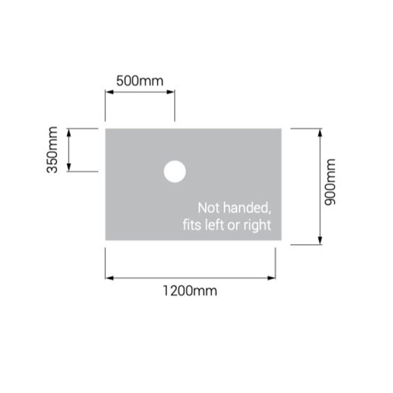AKW Tuff Form Rectangular Wet Room Former 1200mm x 900mm - GRP Composition