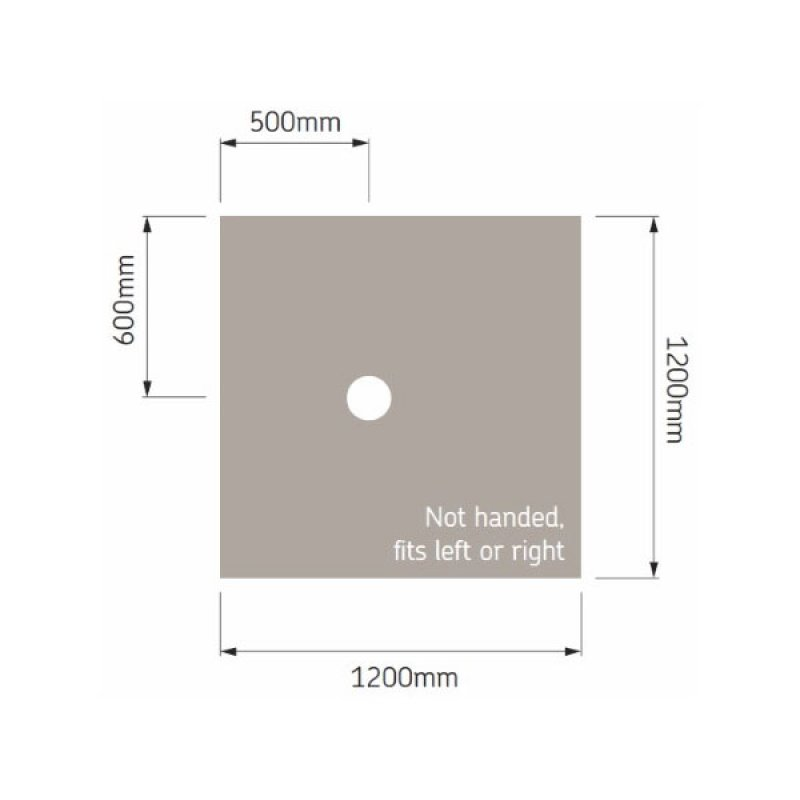 AKW Tuff Form Square Wet Room Former, 1200mm x 1200mm, GRP Composition