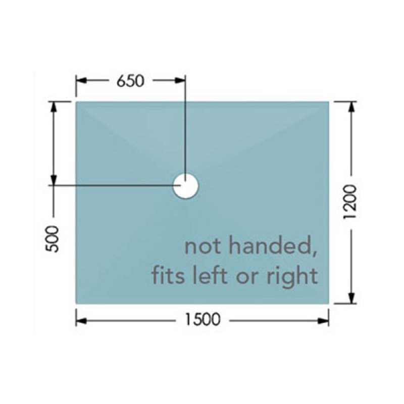 AKW Tuff Form Rectangular Wet Room Former, 1500mm x 1200mm, GRP Composition