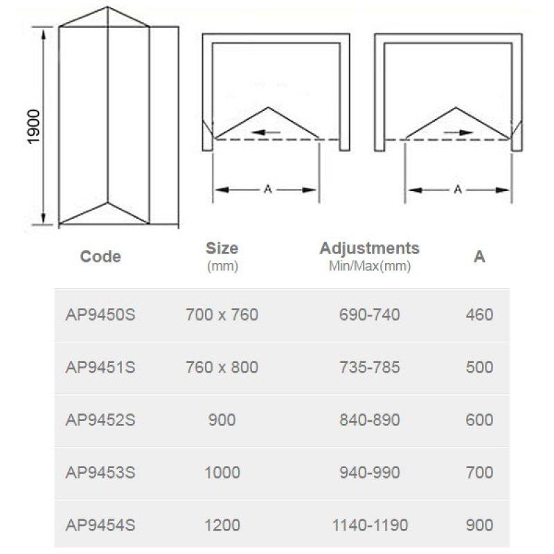 April Identiti2 Bi-Fold Shower Door 760/800mm Wide - 6mm Glass