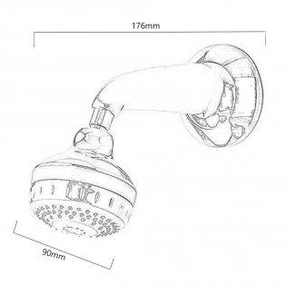 Aqualisa Turbostream Concealed Fixed Shower Head Kit Chrome