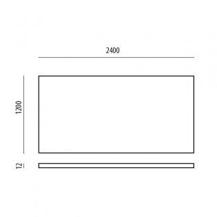 Aquashine Extra Wide Tile Backer Board 2400mm x 1200mm - 12mm