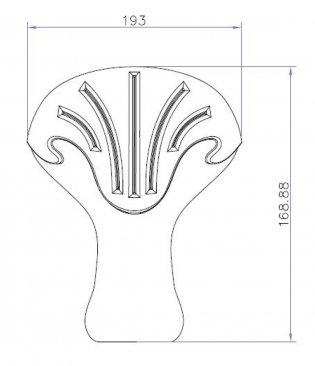 Bayswater Traditional Freestanding Bath Feet/Leg Set (Option 1)