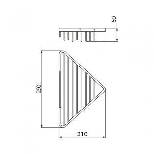 Bristan Open Front Corner Fixed Wire Basket, Chrome