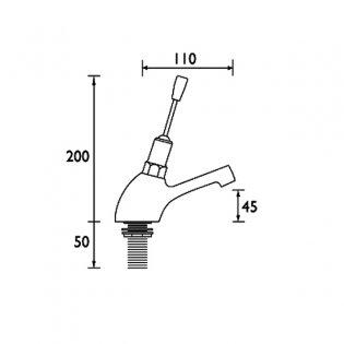 Bristan Non-Concussive Joystick Basin Tap Single - Chrome