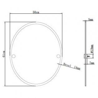 Bristan Oval Bathroom Mirror 610mm H x 500mm W - Chrome