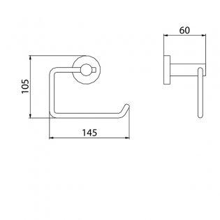 Bristan Round Brass Toilet Roll Holder, Chrome Plated