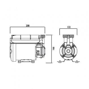 Bristan Single Impeller Shower Booster Pump, 2.0 Bar, Black