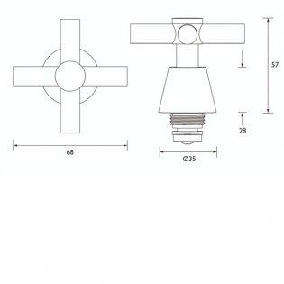Bristan Tap Reviver 1/2 Inch Crosshead Chrome
