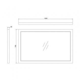 Burlington 120 Fitted Framed Bathroom Mirror, 750mm High x 1200mm Wide, Sand