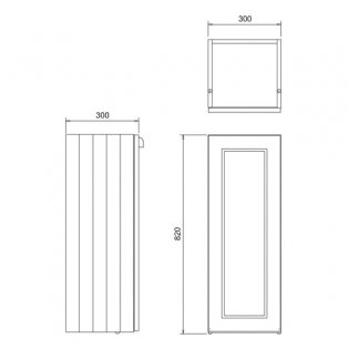 Burlington 30 Fitted 1-Door Base Cabinet Unit, 300mm Wide, Matt White