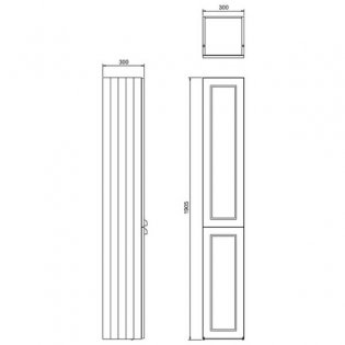 Burlington 30 Fitted 2-Door Tall Base Unit 300mm Wide - Classic Grey