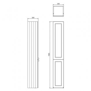 Burlington 30 Fitted 2-Door Tall Base Unit, 300mm Wide, Sand